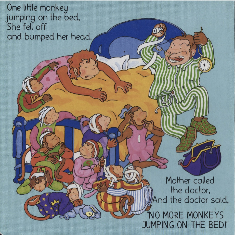 but seriously, no more monkeys jumping on the bed | children's books